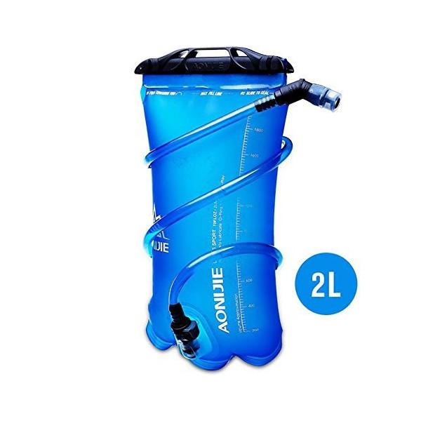 ()2L ハイドレーション 水分補給 無臭 ウォーターバッグ ウォーターキャリー 折りたたみ給水袋 サイクリング 登山 ランニング 災害 防災