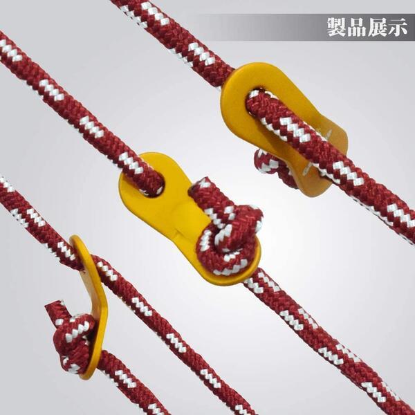 送料無料 6個のアルミ製自在金具が付属 GeerTop 6本セット 全長4m 発売モデル 直径5mm ガイロープ 3色 耐荷重100キロ キャンプ パラコード つり テントロープ アウトドア ガイライン タープロープ セール 特集 登山