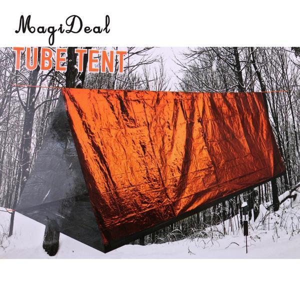 防水仕様 非常用防災用テントとしてご使用いただけます 多機能 ロープ付 2人用 エマージェンシーシェルター 緊急用テント 付与 無料 サンシェード 寝袋 テント アウトドア ブランケット ツェルト 災害 簡易テント キャンプテント オレンジ 防災