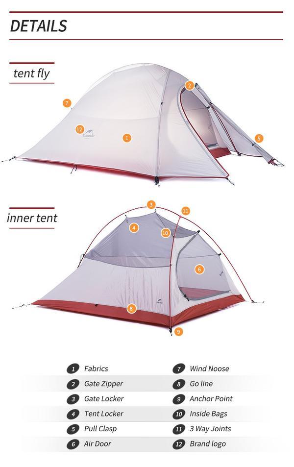 D型カラビナ付2人用テント  耐水圧:4000mm 超軽量 ダブルウォールテントキャンプテント ダブルレイヤーUV40 紫外線防止 ハイキング アウトドア ビーチテント 簡易テント ポップアップテント ドームテント