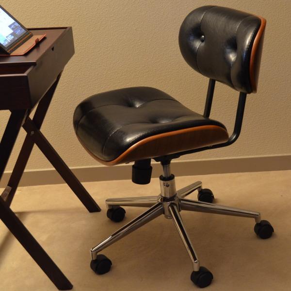 【 オフィスチェア 】送料無料!(北海道・沖縄・離島へは発送しておりません。) アンティーク 調でオシャレな オフィスチェアー です♪(参考 木製 ダークブラウン ブラウン 茶色 椅子 いす イス )
