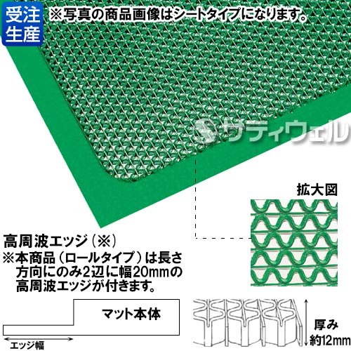 【送料無料】【受注生産品】3M セーフ・ティーグ マット 900mm×3m 緑 SAF GRE 900X3