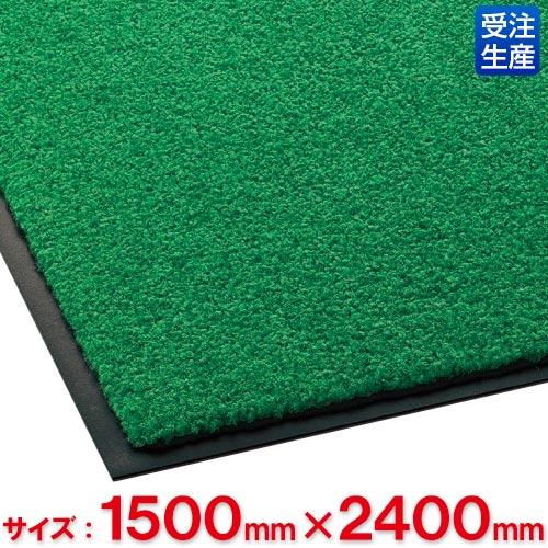 【送料無料】【受注生産品】【法人専用】テラモト ニュートレビアン 1,500×2,400mm 緑 MR-034-252-1