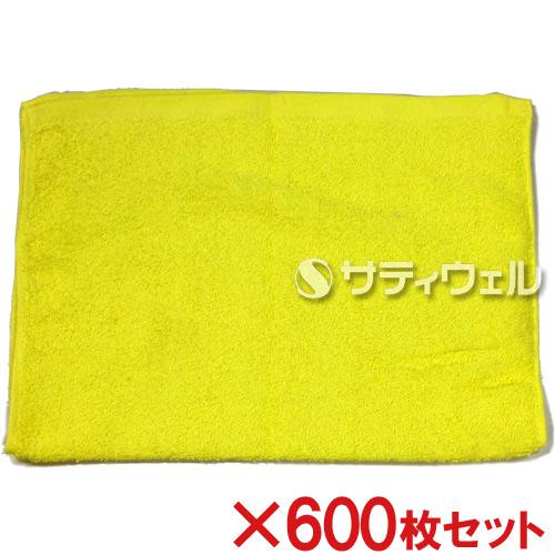 【送料無料】犬飼タオル 洗車タオル 約34×52cm イエロー 176-2 600枚セット