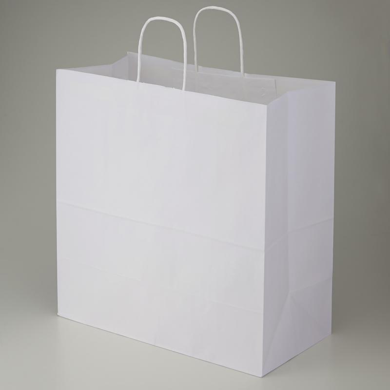 【ケース販売】紙袋 手提げ 45-1 白無地 200枚 (幅450×マチ220×高さ455mm) 【手提げ袋 手提げ紙袋 紙手提袋 ラッピングバック マチ広】