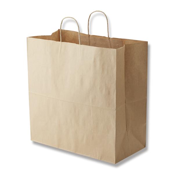 【ケース販売】紙袋 手提げ 45-1 未晒無地 200枚 (幅450×マチ220×高さ455mm) 【手提げ袋 手提げ紙袋 紙手提袋 ラッピングバック マチ広 茶無地】