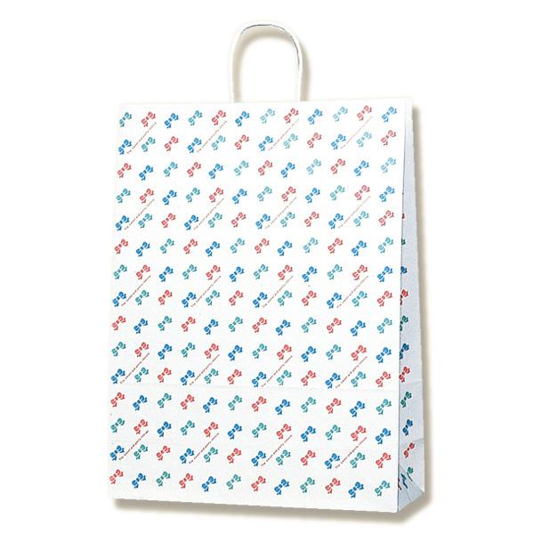 【ケース販売】紙袋 手提げ カスタムB  カラフルリボン 200枚 (幅380×マチ150×高さ500mm) 【業務用 手提げ袋 手提げ紙袋 紙手提袋 ラッピングバック】