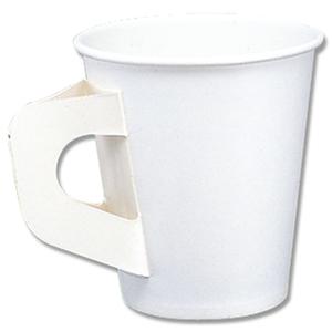 紙コップ ペーパーカップ 7オンス 白 ハンドル付 持ち手付紙コップ 100個 捧呈 交換無料 ハンドル付紙コップ 205cc
