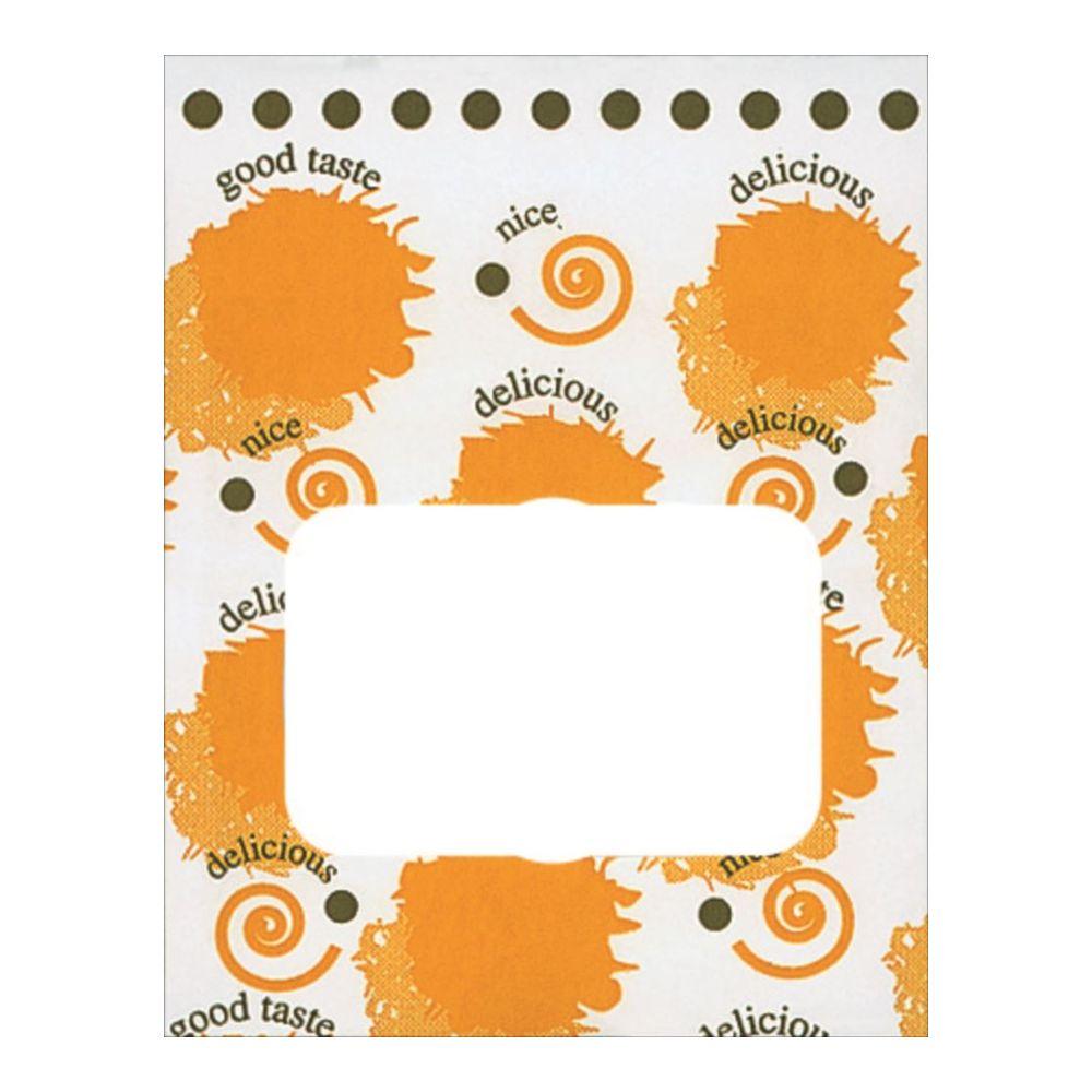 【ケース販売】ルックバッグNO.4Sフライド2000枚巾130×長さ165×マチ80mm【窓付き袋耐油袋ドーナツ袋から揚げ袋コロッケ袋】