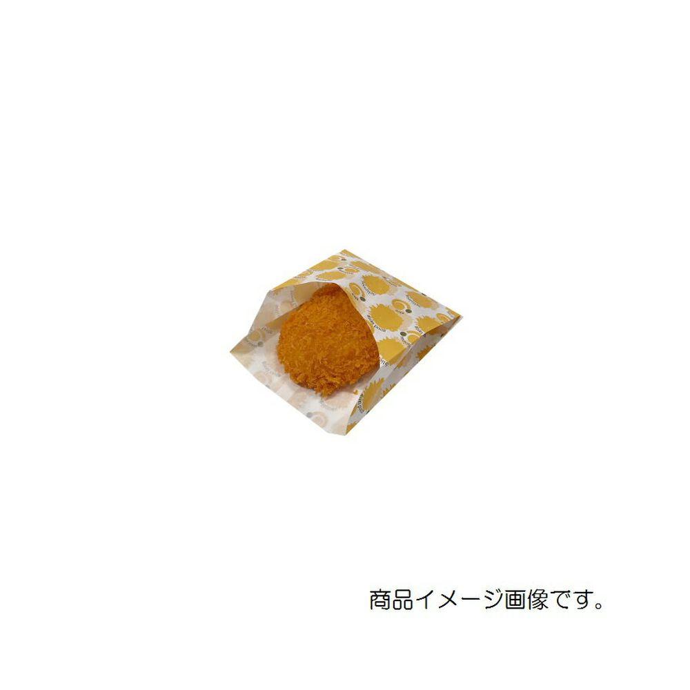 【ケース販売】耐油袋 ミニ フライド 4000枚 巾95×マチ35×長さ110mm【ポテト袋 ドーナツ袋 コロッケ袋 テイクアウト用 業務用 食品用紙袋 使い捨て】