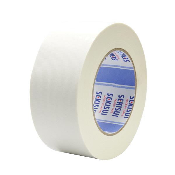 【ケース販売】セキスイ カラー布テープ NO、600 50mmX25m 白 30巻