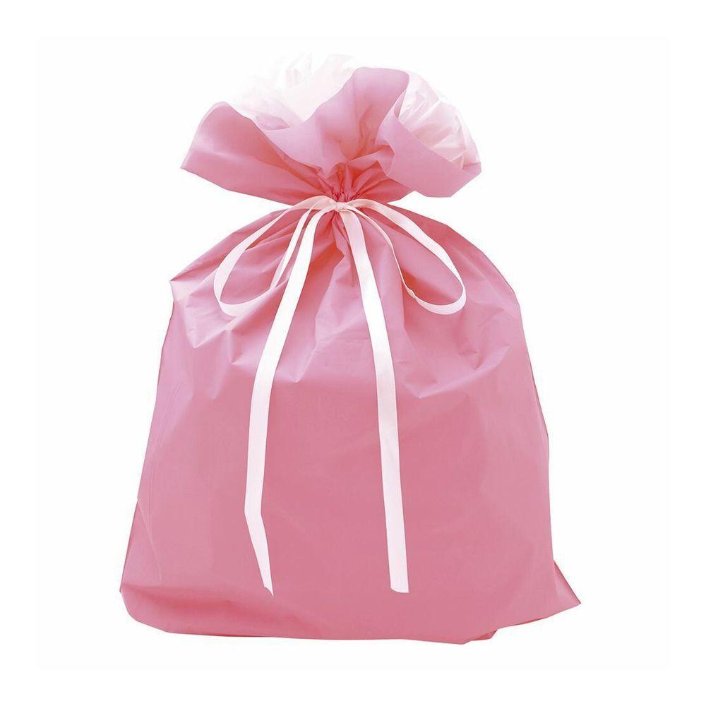 巾着袋 ピンク 特大 50枚【ギフト ラッピング プレゼント 包装】
