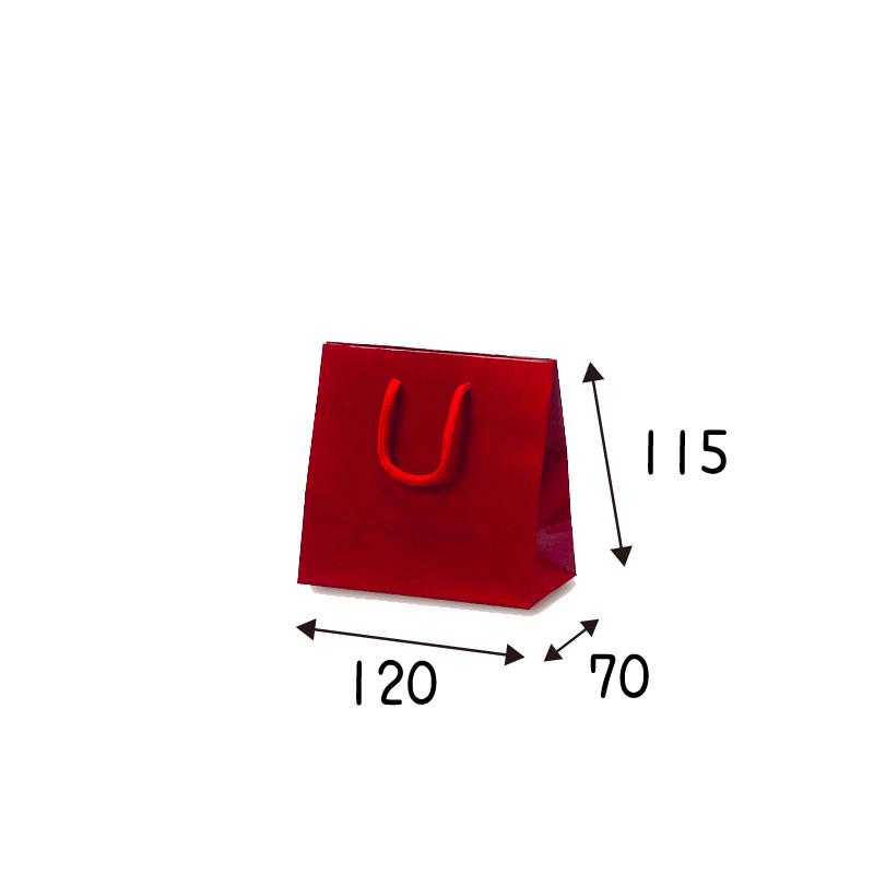 【ケース販売】紙袋 キュートバッグ ワイン     100枚 サイズ 120×70×115mm【業務用 高級 手提げ ラッピング つや有 グロス 光沢感】