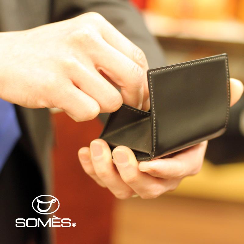 【レターパックプラス送料無料】ソメスサドル コードバンコインケース ハノーバー ブラック