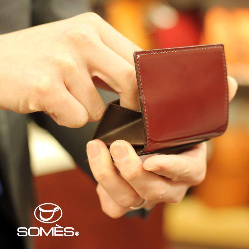 【レターパックプラス送料無料】ソメスサドル コードバンコインケース ハノーバー ダークブラウン