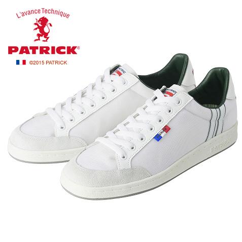 【26ー27.5cm】[メンズ・レディース] PATRICK BUTTE WHT パトリック ビュッテ メンズ レディース スニーカーホワイト WH