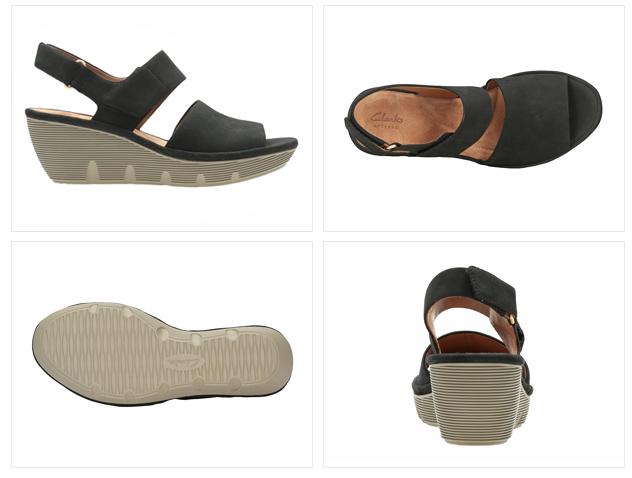58e8f54c5f9  Lady s  Clarks CLARENE ALLURE クラークスクラリーヌアルーアスエードヌバックブラック 027G sandals
