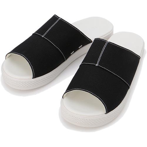 2ae4b0f4ebf0 satoshoes  CONVERSE Converse CV sandals canvas black latest for ...