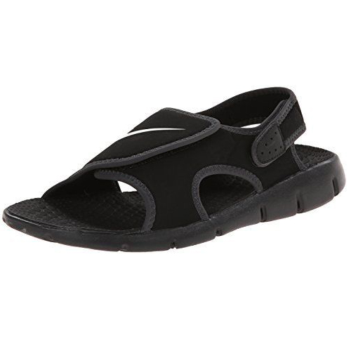 7571e02fc2f14d satoshoes   kids  NIKE Sunray Adjust GS PS Nike sun lei ad just kids sandals  black   white BK