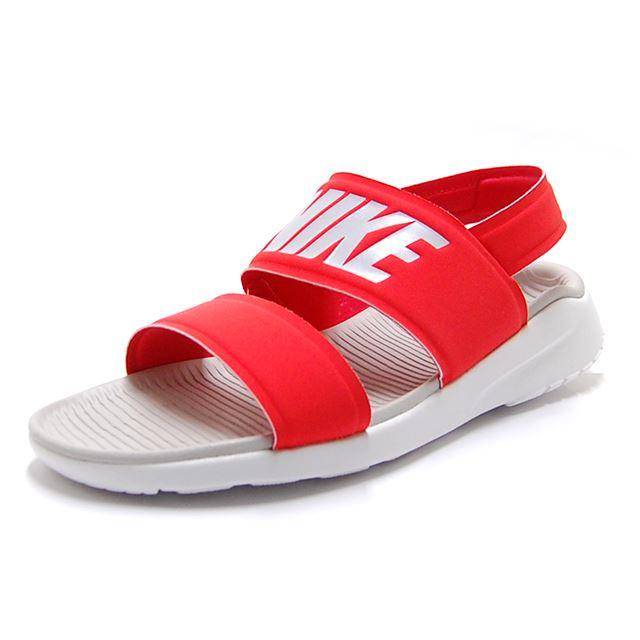dd0ec8ad9377 satoshoes   Lady s  NIKE TANJUN SANDAL Nike tongue Jun sandals red ...