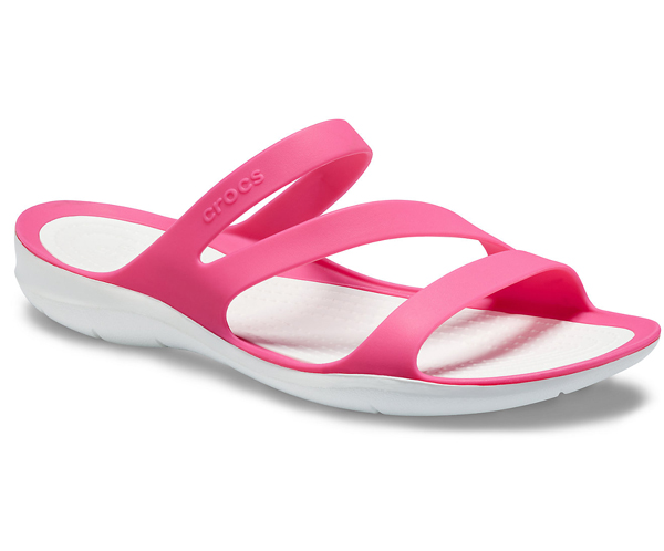 78eedd2dbb18  Lady s  crocs Swiftwater Sandal clocks Swift water sandals Paradise Pink  White
