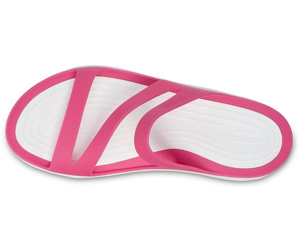 [レディース] crocs Swiftwater Sandal クロックス スウィフトウォーター サンダル Paradise Pink/White