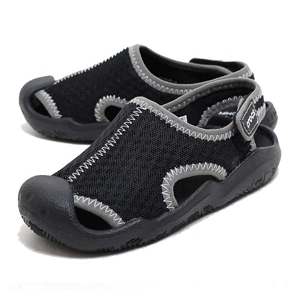 4419863e19ee3b  kids  crocs clocks swiftwater sandal K Swift water sandals black white BK