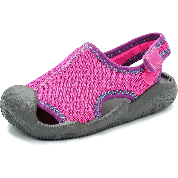 9ef135900cdfca satoshoes   kids  crocs swiftwater clocks Swift water kids sandals Neon  Magenta Slate Grey