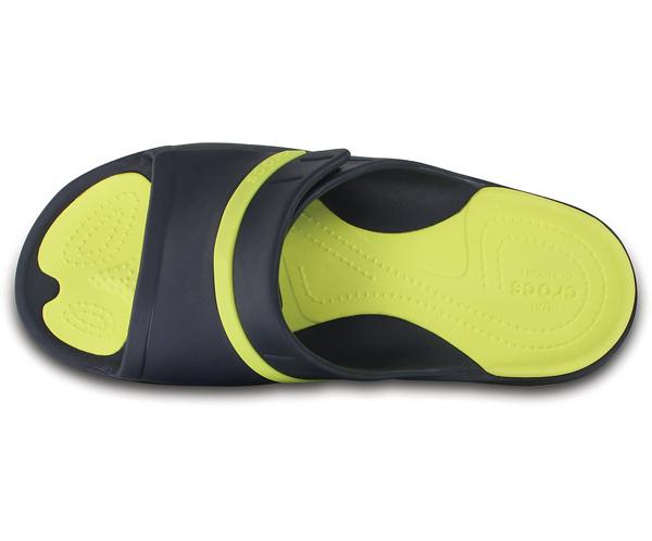 b24715581b4b  men  crocs MODI Sport Slides クロックスモディスポーツスライドサンダル Navy Tennis Ball Green