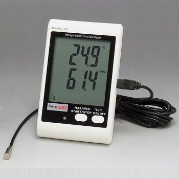 サトテック アラーム付データロガー温湿度計 MJ-ADL-21(卓上/壁掛け型)USBケーブル・ソフトつき