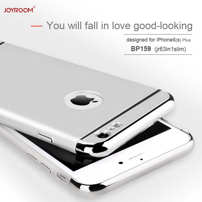 JOYROOM正品 在庫限り Apple iPhone6 Plus iPhone6s ケース カバー アイホン 6 6s アイフォン 6sプラス メタリック ラウンド処理 3パーツ式 JR-BP159 お得 フルケース iPhone スマホケース PLUS 3in1slimSILVER アイフォン7 SILVER おしゃれ プラス フルカバー キラキラ スマホカバー 未使用品