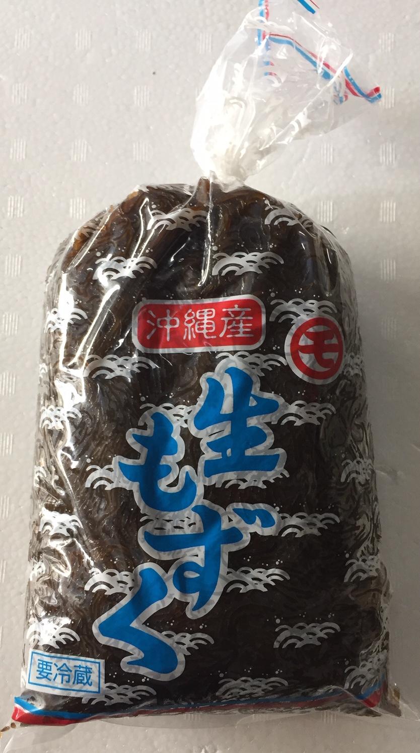沖縄産の生もずくです 直輸入品激安 ポン酢などでお召し上がりください 生もずく1kg 沖縄産 なまもずく 冷蔵便でお届けです 再販ご予約限定送料無料