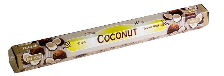 上品な香りが特徴 輸入 お香 Tulasiココナッツ Tulasi Coconut 手数料無料 ココナッツ Hexa インド香 トゥラシ