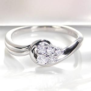 ◆pt900 【0.15ct】ダイアモンド ウエーブ リング◆指輪 リング プラチナ ダイヤモンド リング ダイア ダイヤ リング Pt900 0.1ct ウエーブ 送料無料 刻印無料 品質保証書 プレゼント 代引手数料無料 誕生日 ギフト 購入 Ring *