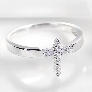 ◆k18WG ダイアモンド クロスリング☆ ジュエリー 指輪 リング ホワイトゴールド ダイヤモンド リング ダイア ダイヤ リング K18 クロス 送料無料 刻印無料 品質保証書 プレゼント 誕生日 ギフト 代引手数料無料 購入 Ring *