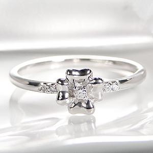 ◆K18WG フラワー ダイヤモンド リング◆ジュエリー・アクセサリー・レディース・指輪・リング・ホワイトゴールド・K18・ダイヤ・送料無料・刻印無料・品質保証書・ギフト・ダイア・フラワー・花・プレゼント・代引手数料無料