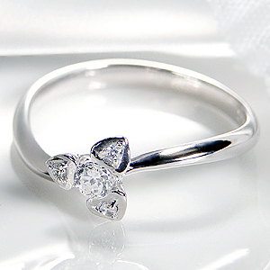 ◆K18WG ダイヤモンド リング◆ジュエリー・アクセサリー・レディース・指輪・リング・ホワイトゴールド・ダイヤモンド・ダイア・K18WG・ハート・送料無料・刻印無料・品質保証書・プレゼント・ギフト・購入・代引手数料無料