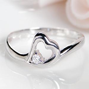 ◆K18WG/YG ダイヤモンド リングジュエリー アクセサリー レディース 指輪 リング ホワイトゴールド イエローゴールド ゴールド 送料無料 品質保証書 ハート ダイア プレゼント 人気 おしゃれ 4月誕生石 K18 18k 代引手数料無料
