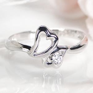 ◆K18WG/YG ダイヤモンド リングジュエリー アクセサリー 指輪 リング ホワイトゴールド イエローゴールド ゴールド 送料無料 品質保証書 ハート 可愛い ダイア プレゼント 人気 おしゃれ 4月誕生石 K18 18k 代引手数料無料