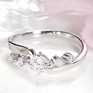 pt900 ダイヤモンド リング【SIクラスHカラーUP】【0.43ct】 ジュエリー アクセサリー 指輪 ダイヤ リング プラチナ ウエーブ 0.3ct 0.30カラット 0.4 0.40 ダイヤ リング 人気 おしゃれ 送料無料 刻印無料 品質保証書 代引手数料無料 ギフト