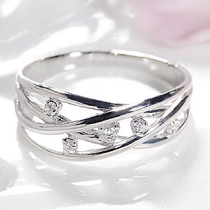 K18WG ウエーブ リング 国際ブランド ジュエリー アクセサリー レディース 指輪 ホワイトゴールド ダイヤモンド 品質保証書 誕生日 購入 送料無料 刻印無料 プレゼント ギフト タイムセール ダイア 代引手数料無料