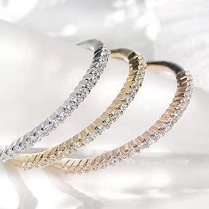 ファッション・ジュエリー・アクセサリー・レディース・指輪・リング・ホワイトゴールド・ダイヤモンド・0.1ct・エタニティ・送料無料・細身・品質保証書・18金・ギフト・ダイア・プレゼント・4月誕生石・K18・重ねづけ・極細・代引手数料無料