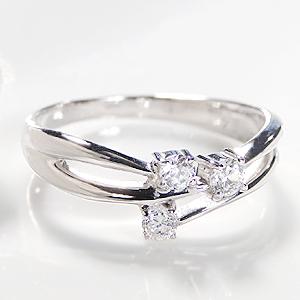 ファッション ジュエリー アクセサリー レディース 指輪 リング プラチナ ダイヤモンド リング ダイア ダイヤ リング Pt900 ウエーブ 送料無料 刻印無料 品質保証書・プレゼント 誕生日 ギフト 購入 代引手数料無料