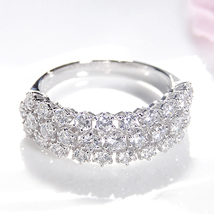 ファッション ジュエリー アクセサリー レディース 指輪 リング プラチナ Pt900 ハードプラチナ ダイヤモンド ダイアモンド ダイア ダイヤ パヴェ 1カラット・刻印無料 代引手数料無料 送料無料 品質保証書 4月誕生石 プレゼント ギフト