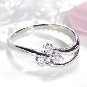 ファッション ジュエリー アクセサリー レディース 指輪 リング ゴールド ホワイトゴールド ダイヤモンド リング ダイヤ リング K18 ウエーブ 送料無料 刻印無料 品質保証書 プレゼント 4月 誕生石 代引手数料無料 ギフト 購入 Ring *