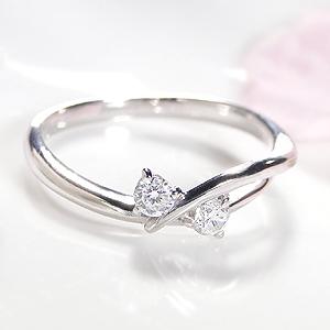 K18WG ダイアモンド ウエーブ リングファッション ジュエリー アクセサリー レディース 指輪 リング ホワイトゴールド ダイヤモンド リング ダイア ダイヤ リング 18金 送料無料 刻印無料 品質保証書 プレゼント ギフト 代引手数料無料