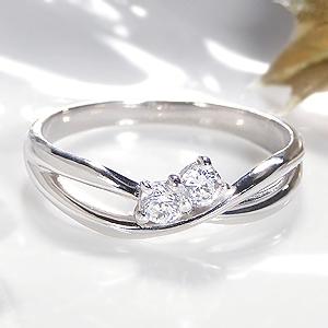K18WG 0.15ct ダイアモンド ウエーブ リングファッション ジュエリー アクセサリー レディース 指輪 リング ホワイトゴールド ダイヤモンド リング ダイア ダイヤ リング 18金 送料無料 刻印無料 品質保証書 プレゼント ギフト 代引手数料無料