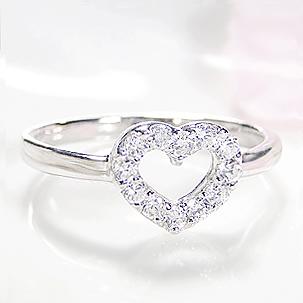 ファッション ジュエリー アクセサリー レディース 指輪 ダイヤ リング ホワイトゴールド ダイヤモンド リング 0.2ct 送料無料 代引手数料無料 品質保証書 18金 ギフト プレゼント 4月誕生石 K18 重ねづけ ハート