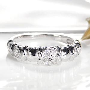 ジュエリー・アクセサリー・レディース・指輪・リング・ホワイトゴールド・K18・ダイヤ・個性的・ 送料無料・刻印無料・品質保証書・ギフト・ダイア・プレゼント・4月誕生石・代引手数料無料
