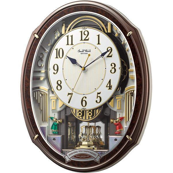 スモールワールド メロディ電波からくり掛時計(48曲入) 4MN545RH23 【のし包装可】_